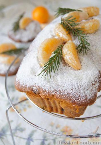 Фото к рецепту: Быстрый рождественский кекс