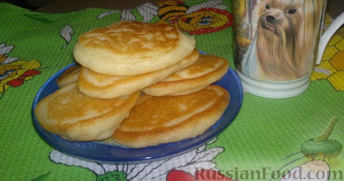 Рецепт Оладьи на кефире с манкой