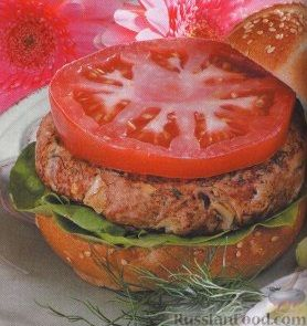 Рецепт Бургеры с котлетой из индюшатины