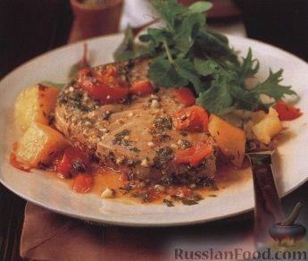 Рецепт Тунец и картофель, запеченные в духовке