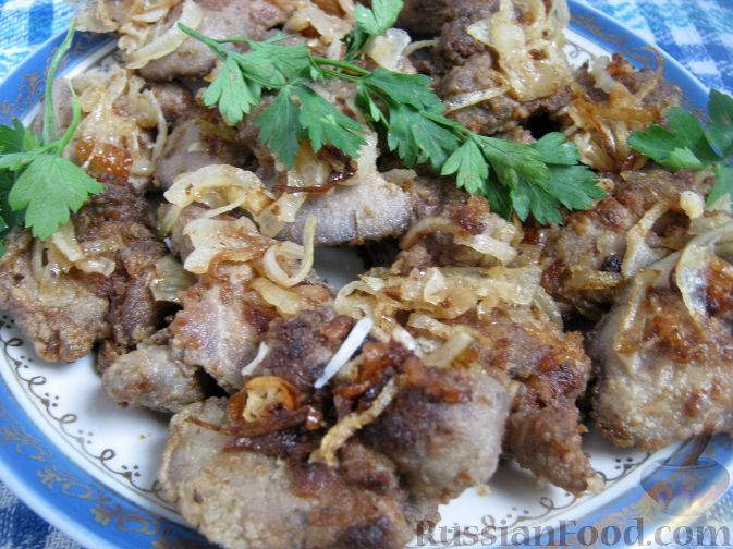 Рецепт Куриная печень с луком
