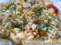 Фото к рецепту: Рис с овощами постный