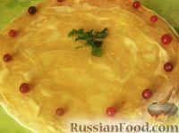 Фото к рецепту: Блинный пирог с курицей
