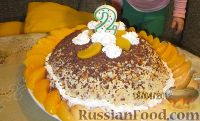 """Фото к рецепту: Торт из печенья с бананами """"Мария"""""""