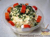 Фото к рецепту: Крабовый салат с сыром и яйцами
