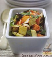 Фото к рецепту: Овощное соте с тыквой