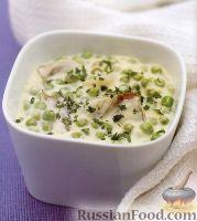 Фото к рецепту: Соус из зеленого горошка и жемчужного лука