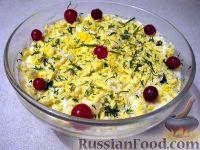 Фото к рецепту: Салат печеночный слоеный