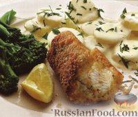 Фото к рецепту: Угорь жареный с вареным картофелем
