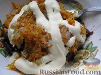Фото приготовления рецепта: Салат из фасоли с печенью - шаг №6
