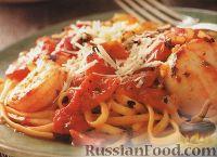 Фото к рецепту: Спагетти с соусом из морепродуктов