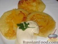 Фото к рецепту: Оладьи с сыром