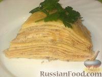 Фото к рецепту: Блинная лазанья с грибами