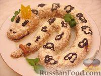 "Фото к рецепту: Торт ""Змея Скарапея"" (Муравейник)"