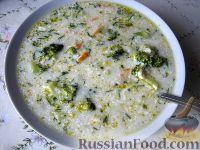 Фото к рецепту: Суп  сырный с брокколи