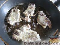 Фото приготовления рецепта: Говяжья печень, жаренная в масле - шаг №12