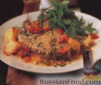 Фото к рецепту: Тунец и картофель, запеченные в духовке