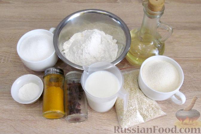 Фото приготовления рецепта: Свиные тефтели, тушенные в миндальном соусе с белым вином - шаг №4