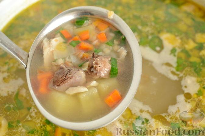Фото приготовления рецепта: Суп с куриными сердечками - шаг №8