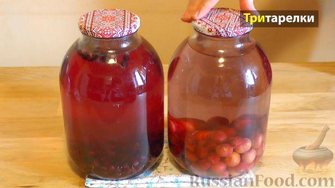 Фото приготовления рецепта: Компот из ягод на зиму - шаг №3