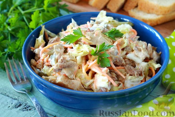 Фото к рецепту: Мясной салат с пекинской капустой
