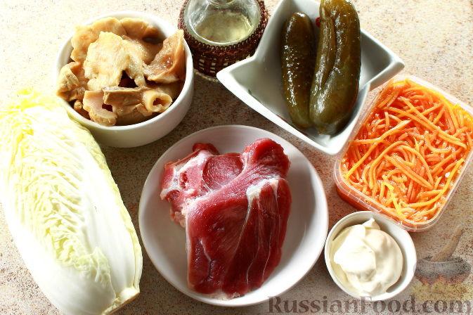 Фото приготовления рецепта: Мясной салат с пекинской капустой - шаг №1