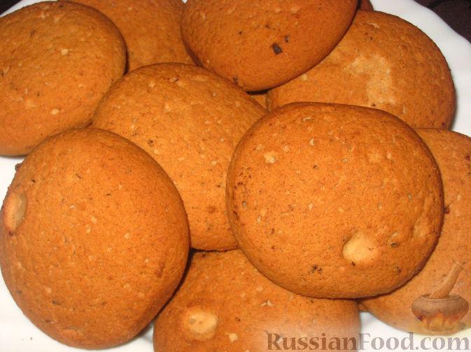 Рецепт Пышное овсяное печенье с белым шоколадом