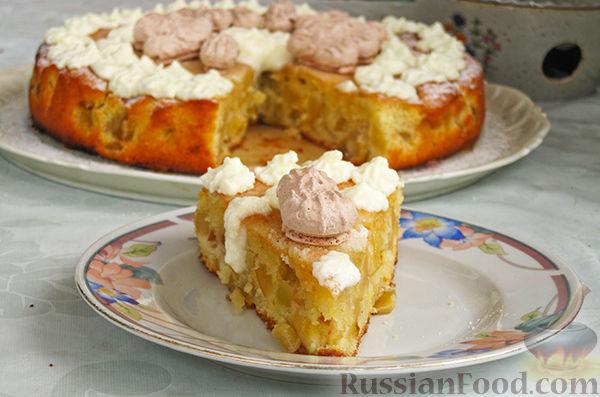 Рецепт Нежный яблочный пирог-торт