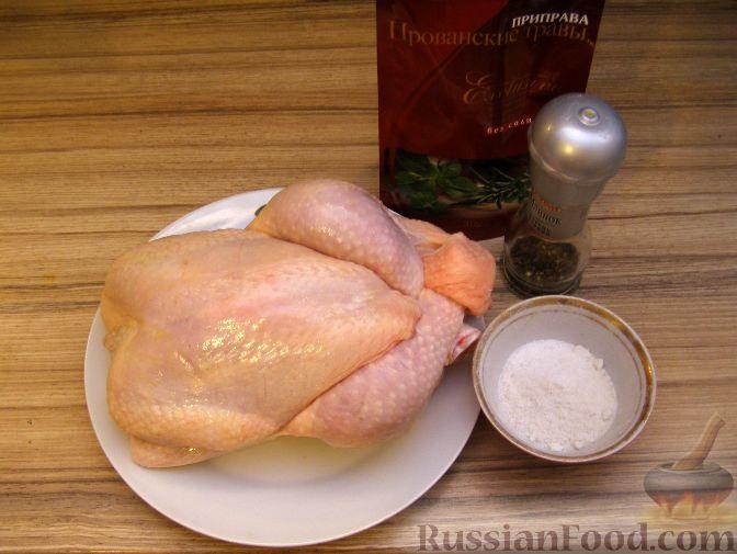курица в духовке целиком рецепт с фото пошаговый рецепт с фото