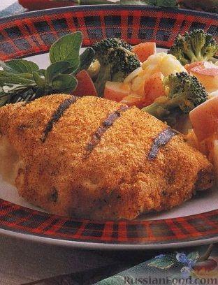 Рецепт Кордон блю из куриного филе, приготовленное на гриле