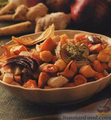 Рецепт Зимние овощи, запеченные в духовке