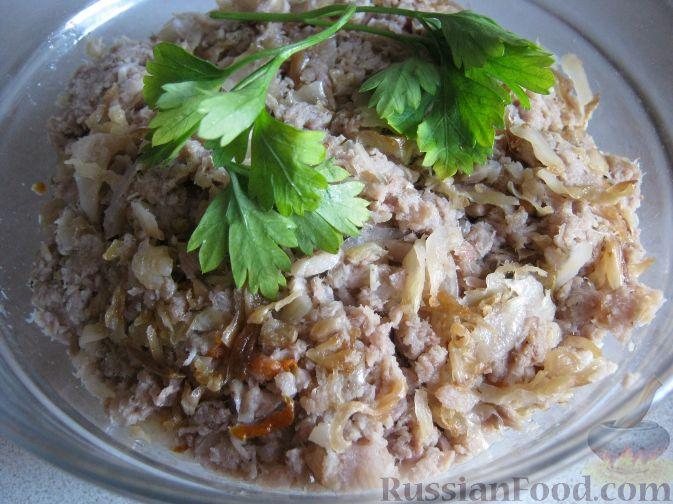 Рецепт Начинка для пирогов с мясом и капустой