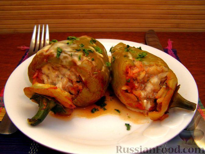 Рецепт Перец, фаршированный мясом и рисом