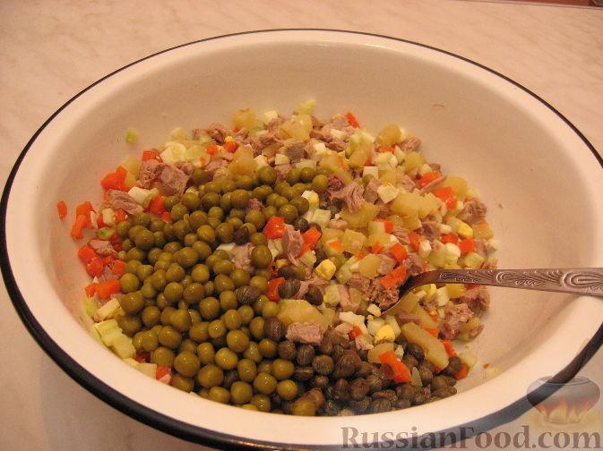 Оливье с каперсами рецепт с фото