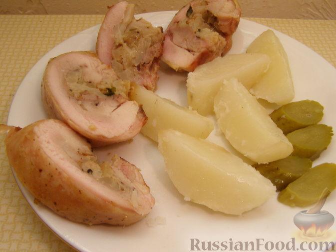 Рецепт Фаршированные куриные бедрышки