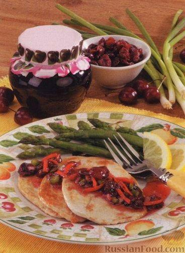 Рецепт Вишневый соус с луком