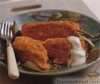 Рецепт Картофельно-рыбные крокеты со сливочным соусом