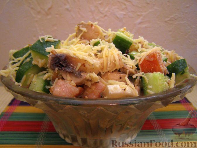 Рецепт Салат с копченым мясом и орехами