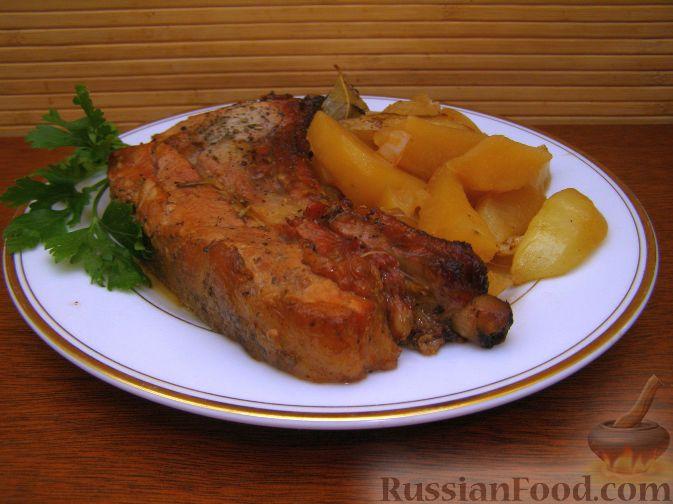 Рецепт Свинина, запеченная с картофелем