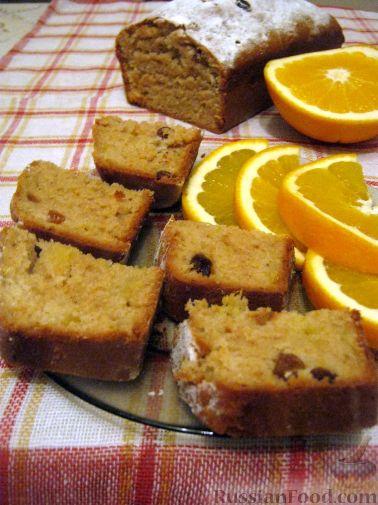 Рецепт Постный кекс с апельсинами