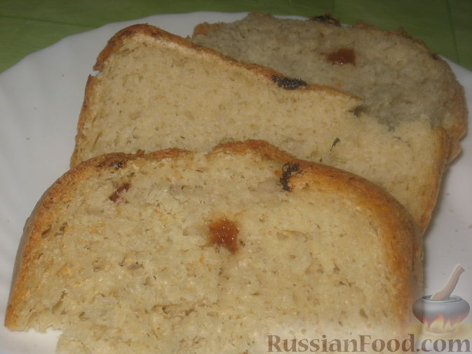 Рецепт Хлеб с овсяными хлопьями и изюмом