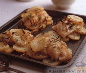 Рецепт Картофель, запеченный с лососем