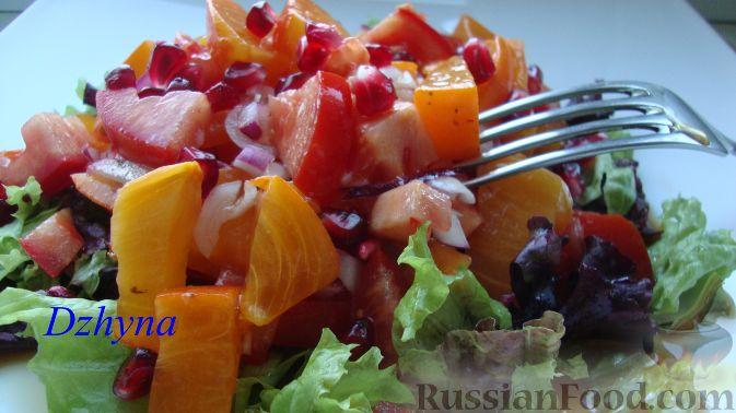 Фото к рецепту: Салат из хурмы