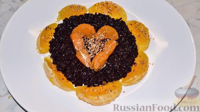 Рецепт Черный рис с фруктами