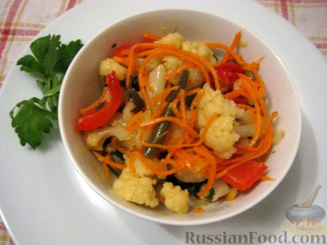 Быстрый салат из капусты по-корейски