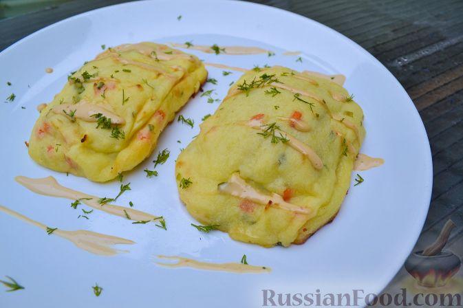 Рецепт Дорада, запеченная с грибами и сыром