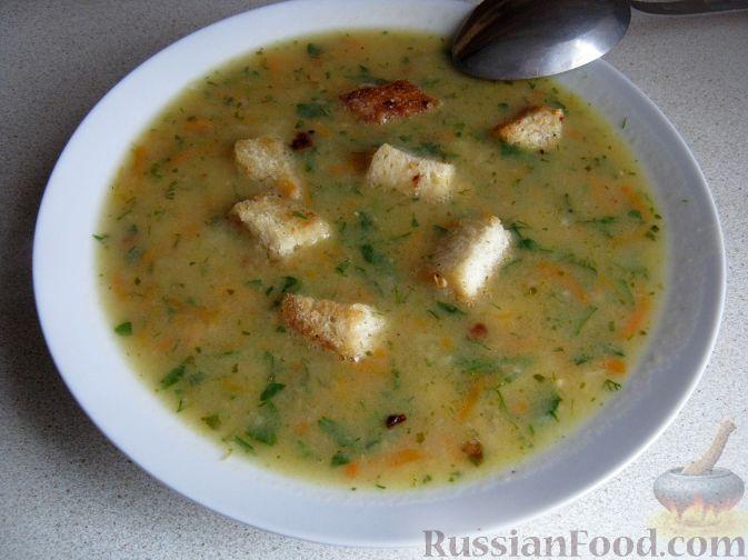 Рецепт Суп гороховый с гренками