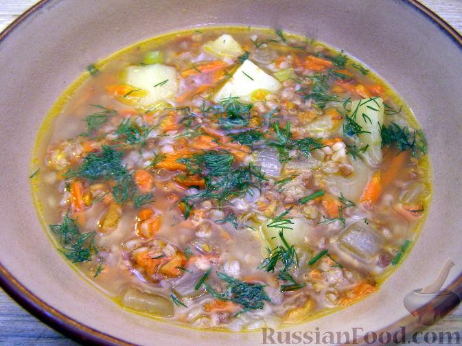 Рецепт Густой гречневый суп