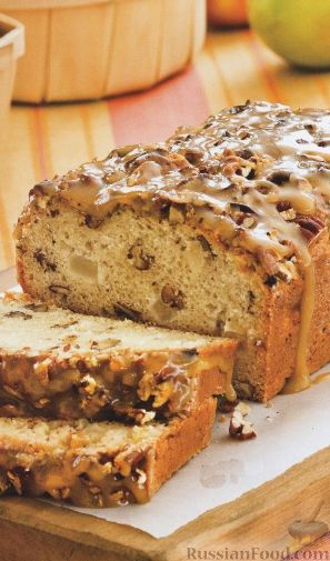 Рецепт Кекс с орехами и яблоками