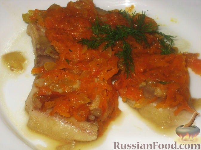Рецепт Розовая камбала с овощами